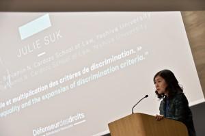 Julie Suk-Professeure de droit-Benjamin N. Cardozo School of Law-Yeshiva University « Egalité réelle et multiplication des critères de discrimination »