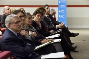 Sandrine Zientara-Logeay, directrice du GIP-Mission de recherche Droit et Justice (1er rang, 4e place en partant du bas) entourée d'Evelyne Serverin, directrice de recherche (3e place) et Valérie Delnaud, adjointe au directeur de la Direction des Affaires civiles et du Sceau, ministère de la Justice (5e place)