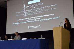 Isabelle Rorive-Professeure de droit-Université Libre de Bruxelles-Institut d'Etudes Européennes « Le droit européen de la non-discrimination mis au tempo de critères singuliers »
